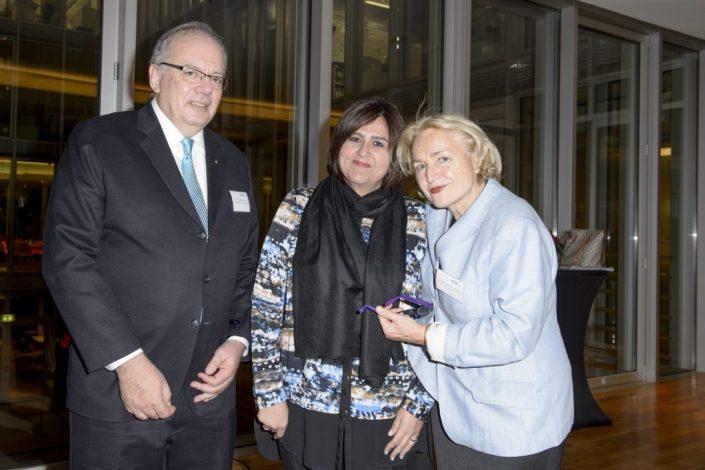 S.E. Alberto Guani, I.E. Maria Lorena Gutierrez Botero und Dr. Hildegard Stausberg